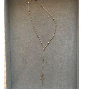 Argento Vivo Gold Cross Y Necklace